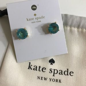 New Kate Spade Turquoise Blue Stud Earrings